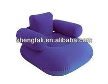 Inflatable flocked air sofa