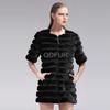 QD27591A Woman Winter Clothes Mink Fur Jacket Plus Size Women Clothing OEM Manufacturing