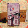 Famous Building case For samsung galaxy s4 leather case with cards-slot