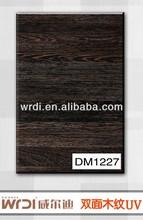 2013 new product double side wood grain/polywood board/ hdf board DM1227