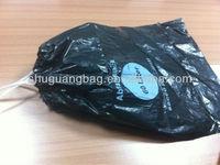Plastic Disposable Drawstring Garbage Bag with white tape