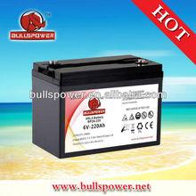 6V220AH deep cycle VRLA battery for golf cart