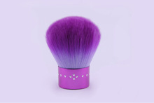 purple nylon hair cosmetic make up kabuki brush