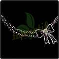 Bowknot collar de piedra decoración vestido, sweety de diamantes deimitación de transferencia