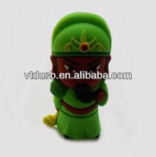 Chinese style Guan Yu usb flash drive 2.0,Real capacity 64GB usb