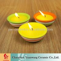 Ceramic Pot Citronella Garden Candle