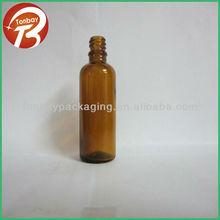 Soda-lime diameter 18mm amber glass bottle--low price