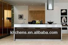 House Plan Customized Dark Brown Kitchen Cabinets (AGK-069)