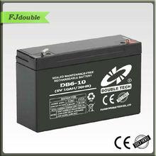 6V 10Ah power battery E-BIKE/MOTORCYCLE/SOLAR/CAR BATTERY