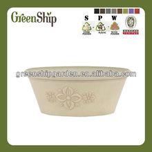 10TA series Garden Decorative Round Plastic Cheap Flower Pots/ lightweight/ 20 years lifetime