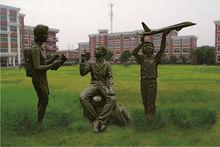 Modern Cast copper Kids Sculpture for School outdoor garden decoration