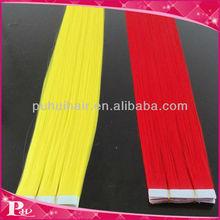 Top Grade European Virgin Hair 20inch Yellow best type human hair extensions