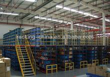 warehouse storage steel mezzanine rack structure ,attic rack