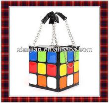 New Fashion Personality Cute Colorful Magic Cube Bag,Lady Chain Handbag (BHX029)