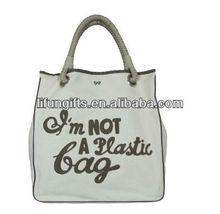 2014 Promotional fashionable wholesale custom printed cotton 12oz custom printed canvas tote bag