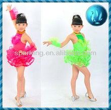 Children dance costumes- children dance costume -Girl Costume -Latin dance skirt