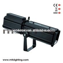 DMX-512 2 channel 90-250v warm/ white COB 100w led aluminum profile spot light