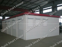 Nice Design for Sandwich Panel Container House----5 container houses connected together! (73m2)