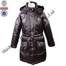 Girl's Classic wadded/padding jacket/long coat