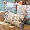 Newly Cheap World Map Decorate Wholesale Bulk Pillow Case