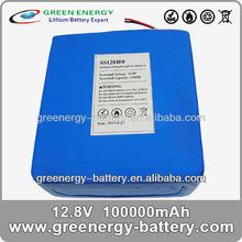 lifepo4 battery pack SS128100 lithium battery 12v 100ah