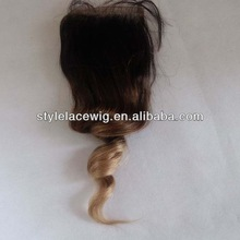 Virgin Brazilian Hair Ombre Color Top silk base Closure