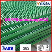 slip resistance frp steel grating/fiberglass deck gratings/fiberglass solid grille 38mm