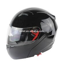 DOT double visors flip up helmet WLT-118 BLACK
