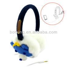 Cute custom earmuff animal kids headphones with safe sound quality