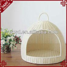 S&D handmade lovely rattan igloo pet bed