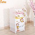 Colore bianco 5 cubetti cartoon mokyo porta unire design scarpa magazzini a scaffale( fh- aw01056- 5)