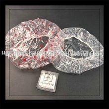 Degradable plastic shower cap