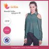 2014 Hot sale leakage shoulder design sexy blouse designs