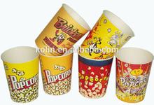 32oz disposable custom printed paper popcorn box