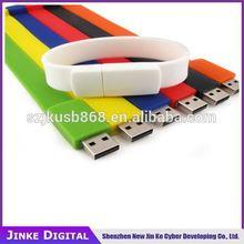 Alibaba China wholesale 1gb 2gb 4gb 8gb 16gb 32gb PVC silicon wristband USB flash drive Fluorescent bracelet USB pen drive