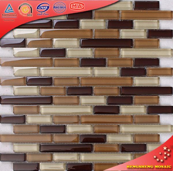 Hks21 bege e marrom brilhante premium vidro tile interior - Precios azulejos cocina ...
