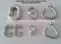 Galvanized chain connecting links, chain repair links