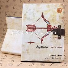 fashion 12 Constellation case for ipad2 ipad3 ipad4 ipad5 air case pu leather cover