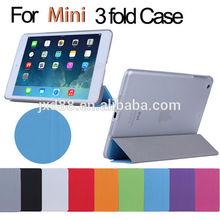 3 fold design case for ipad mini 2 case cover for ipad mini 2
