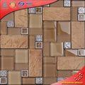Tc13 cristal de mosaico de cerámica de la mezcla pared marco de acero inoxidable azulejo imágenes
