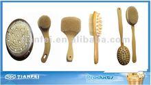 Cactus Bristle Wooden Bath Brush