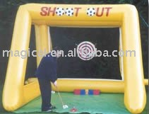newest funny outdoor game inflatable golf shooting game/ inflatable golf game