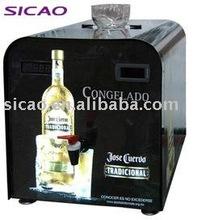 1 Bottle Vodka Chiller Dispenser liquor bottle led, Shot Chiller with Tap Dispensing