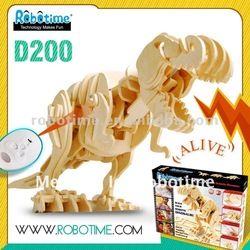 3D DIY wooden toy educational Dinosaur