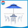 240 CM azul de fibra de vidrio de dos pisos Parasol