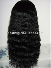 Fashion Black Long Loose Curl front lace wigs accept Paypal