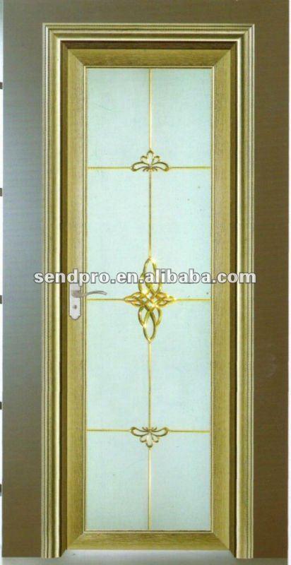 Puertas De Aluminio Para Baño Interior:interior de aluminio decorativas de vidrio puerta del baño de la
