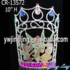 Wholesale big size custom rhinestone fairy pageant crowns for sale