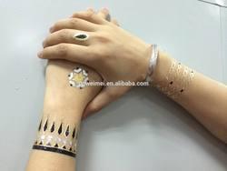 Hot Sell Temporary Gold Metallic Tattoo Sticker