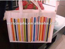 Fashionable & Cute Colorful Stripe cotton bag